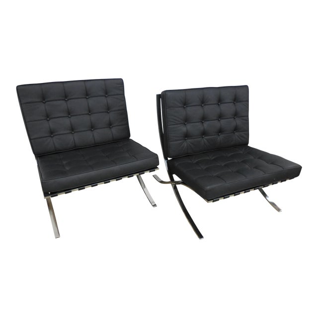 Modern Barcelona Chairs - a Pair For Sale