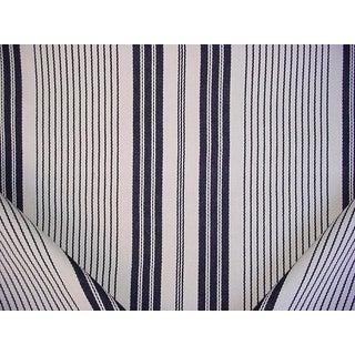 Ralph Lauren Lcf68343f Salinas Stripe Cinder Drapery Upholstery Fabric - 2-1/2y For Sale