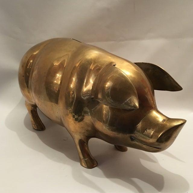 Vintage Brass Pig Bank - Image 3 of 7