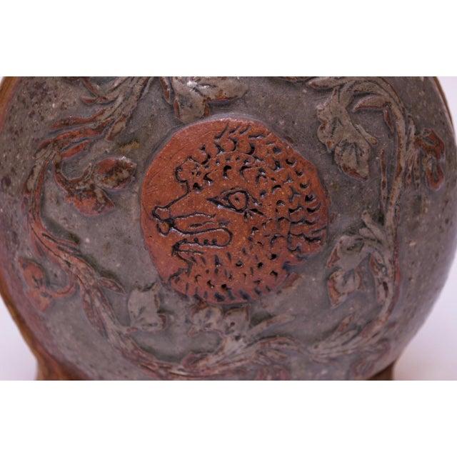 """Femina El Fera"" Figural Studio Stoneware Vase / Candleholder Signed Polk For Sale - Image 9 of 13"