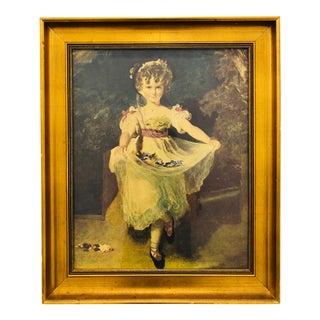 Portrait in Gilt Wooden Frame For Sale