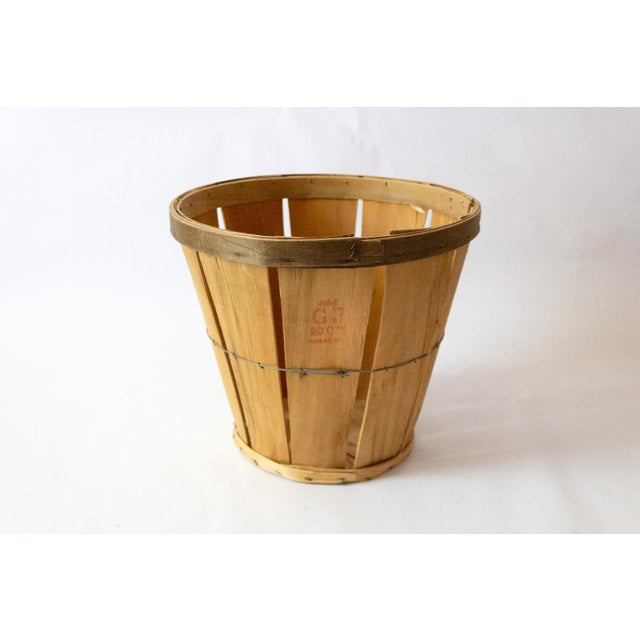 1950s 1950s French Country Wood Apple Basket For Sale - Image 5 of 5