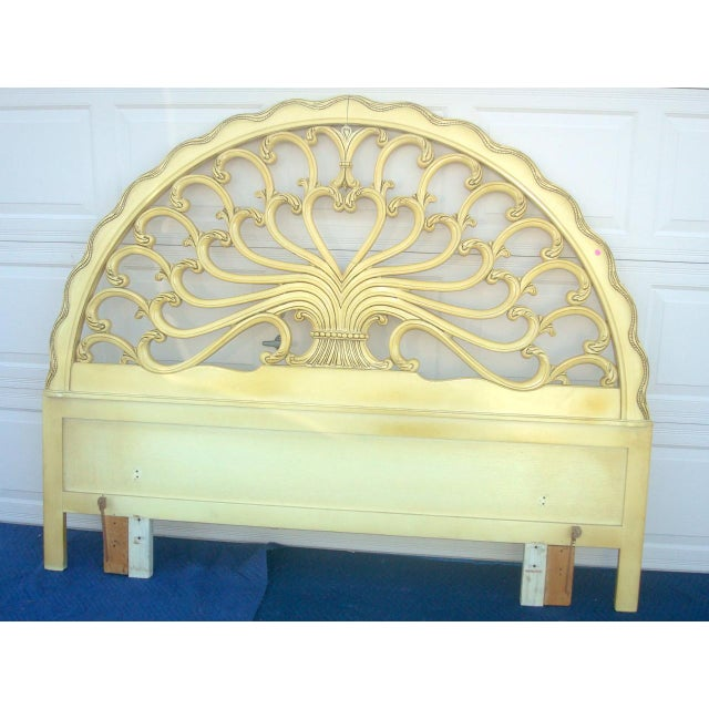 French Genova Furniture Co. French Provincial Headboard For Sale - Image 3 of 7