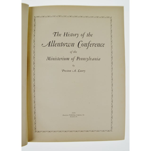 Paper Allentown Conference History 1926 Hardcover Book For Sale - Image 7 of 12