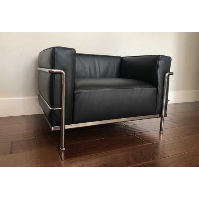 Le Corbusier Mid-Century Modern Cassina Le Corbusier LC3 Armchair For Sale - Image 4 of 12
