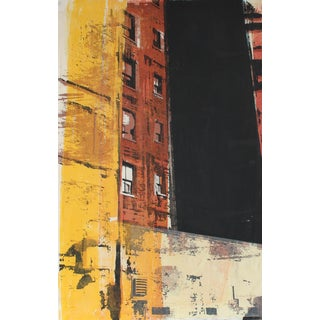 """Barbara Lewis """"Airshaft"""" Chicago Cityscape, Serigraph Print, 1973 1973 For Sale"""