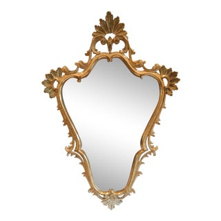 Italian Gilt Wood Mirror For Sale