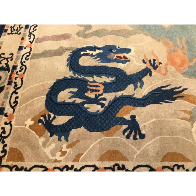 Beautiful Antique Chinese Peking Rug 5'2'' x 8'8'' This rug is in immaculate condition. 100% full wool pile. Fantastic...