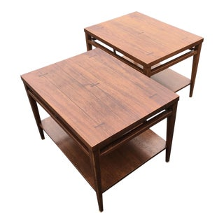 Mid Century Modern Lane Tuxedo End Tables - A Pair For Sale