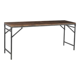 Vintage Folding Console Table For Sale