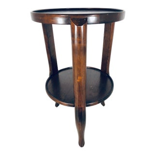 Osvaldo Borsani Style Italian Cherry Wood Side Table For Sale