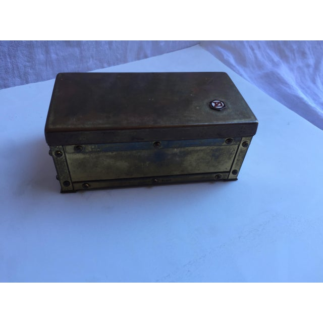 Vintage Brass Insignia Box For Sale In San Francisco - Image 6 of 6