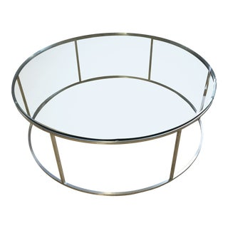 Room & Board Tyne Stainless Steel Coffee Table For Sale