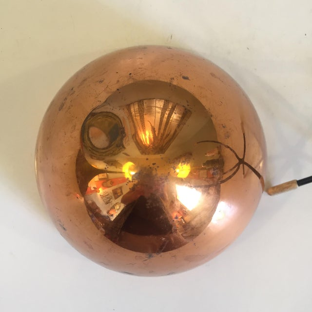 Mid-Century Modern Copper Bullet Planter For Sale In Richmond - Image 6 of 9