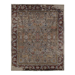"Modern Pasargad N Y Wool & Bamboo Silk Hand Knotted Area Rug - 8'1"" X 10'1"" For Sale"