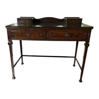 20th Century Queen Anne Mahogany Ladies Desk For Sale