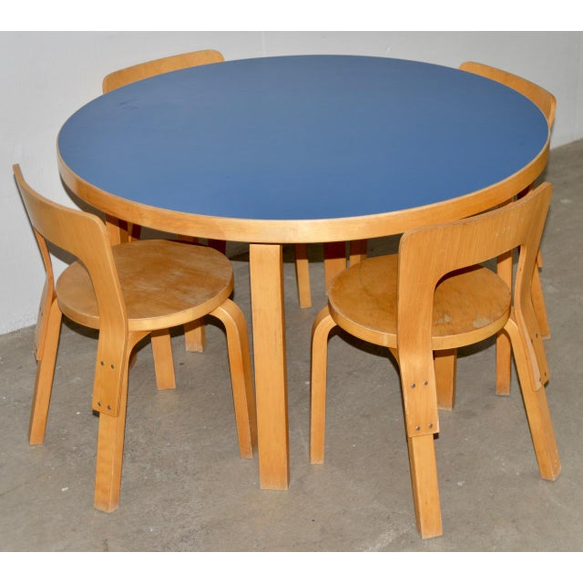 Vintage Alvar Aalto Children's Table & Chair Set c.1930s A fine set for kids. The table and chairs are in good condition....