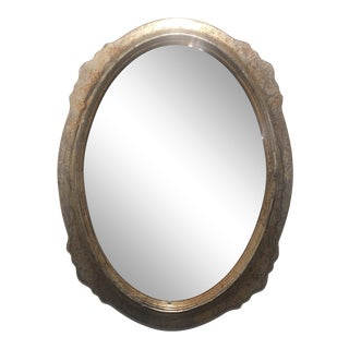 1940s Italian Oval Mirror