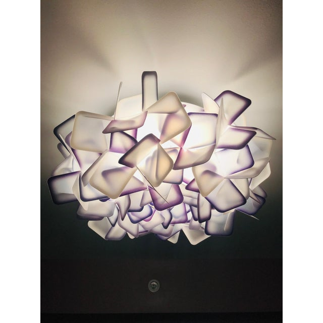 2010s Modern Geometric Flush Mount Chandelier in Woven Resin Clusters by Slamp For Sale - Image 5 of 13