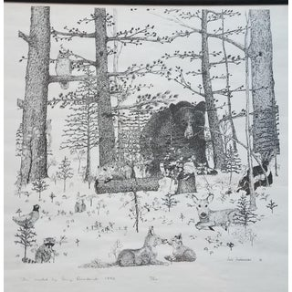 "Vintage 1990 ""Fir"" Signed and Numbered Print by Amy Arredondo For Sale"