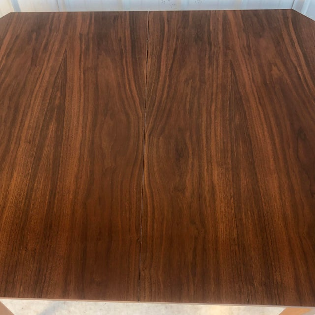 1960s Mid-Century Modern Dining Room Table With Leaf For Sale - Image 5 of 13