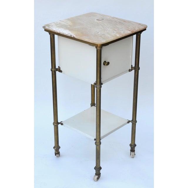 Antique Medical Cabinet Rolling Cart For Sale - Image 4 of 10