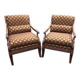"""Image of Ethan Allen """"Roma"""" Chairs - a Pair For Sale"""