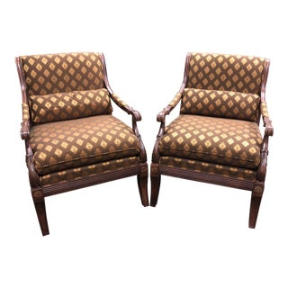 "Ethan Allen ""Roma"" Chairs - a Pair For Sale"