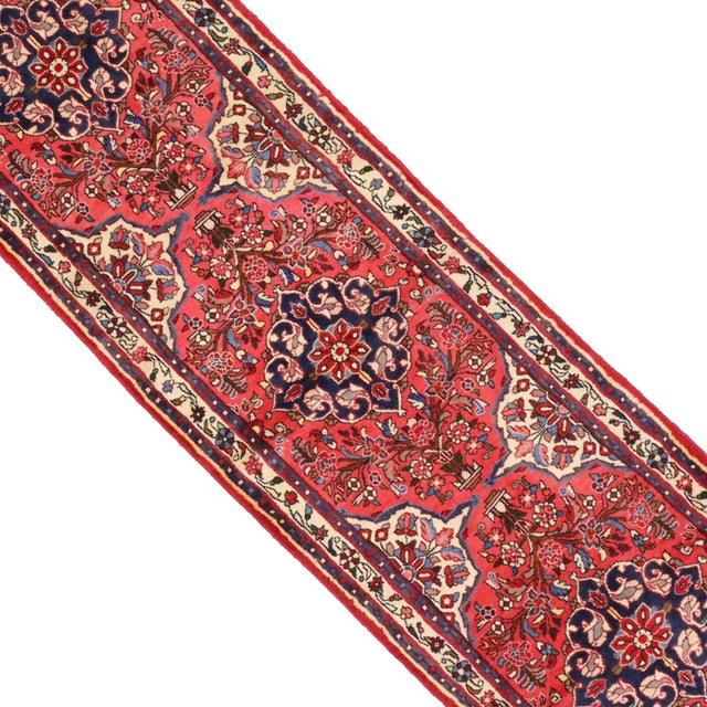 """American Classical Vintage Persian Rudbar Runner - 2'6"""" X 9'4"""" For Sale - Image 3 of 4"""