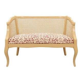 Caned Back Les Touches Loveseat For Sale