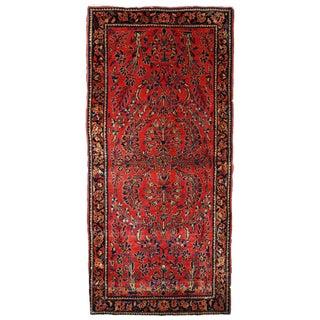 1900s, Handmade Antique Persian Sarouk Runner 3.2' X 7.10' For Sale