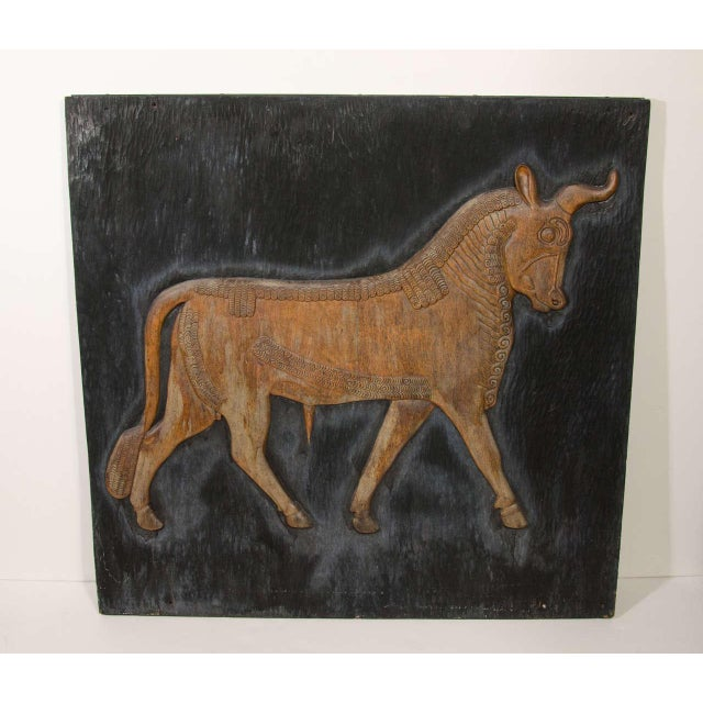 Art Deco Exceptional Hand Carved Artwork Panel From the Estate of Charles Lamb For Sale - Image 3 of 11