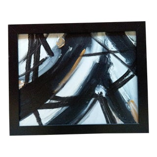 Beth Downey Abstract Black & White Painting For Sale