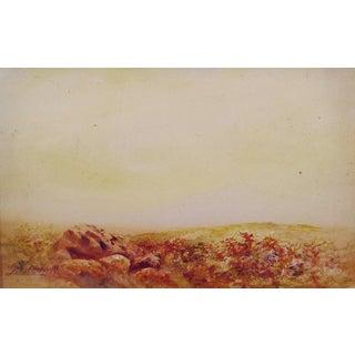 Rocky Landscape 1913 Watercolor & Gouache For Sale