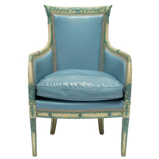 1950s Vintage Painted Regency Style Armchair For Sale