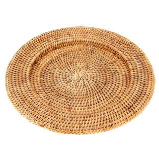 "Artifacts Rattan 13"" Solid Weave Charger"
