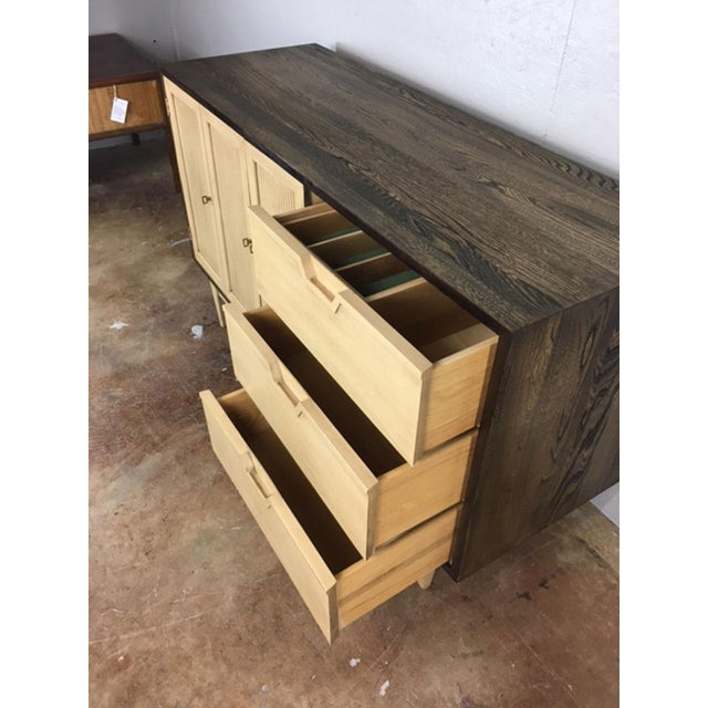 Two-Toned Mid Century Modern Credenza For Sale - Image 9 of 11