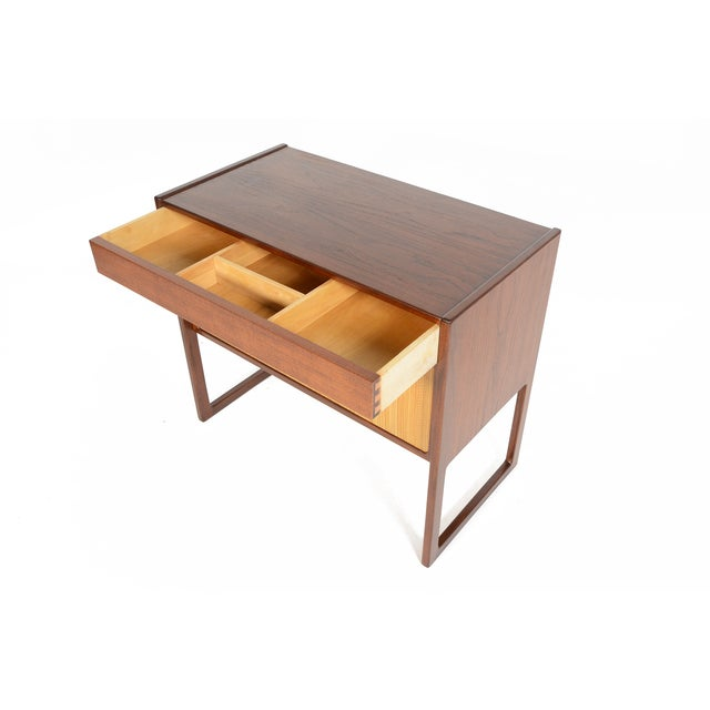 Danish Modern Teak and Grasscloth Entry Chest - Image 8 of 10