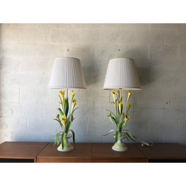 1970 Italian Tole Table Lamps - a Pair For Sale - Image 13 of 13