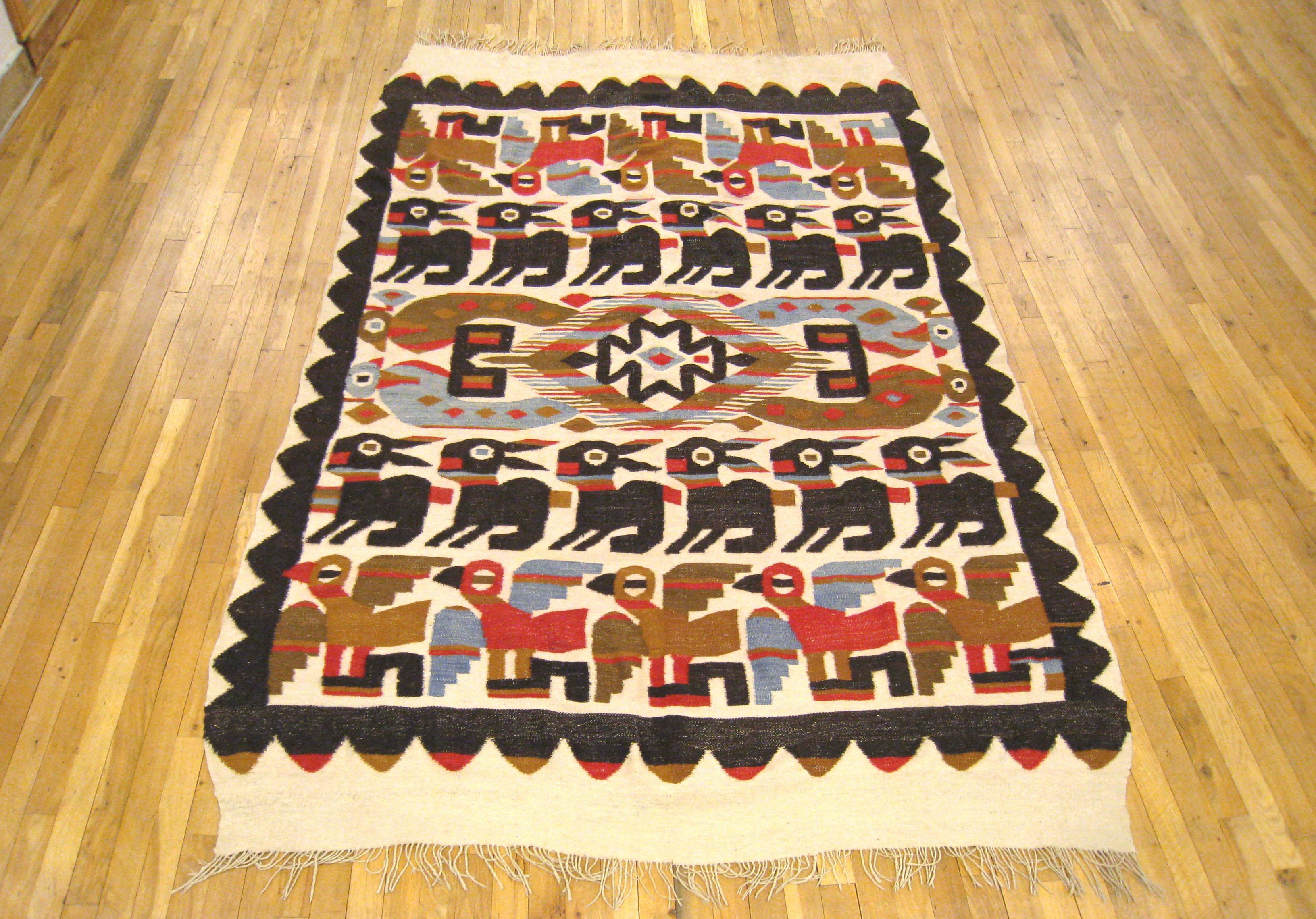 Handwoven handmade vintage ethnic Andean Peruvian tribal boho woven trim  upholstery loom Cuzco A010