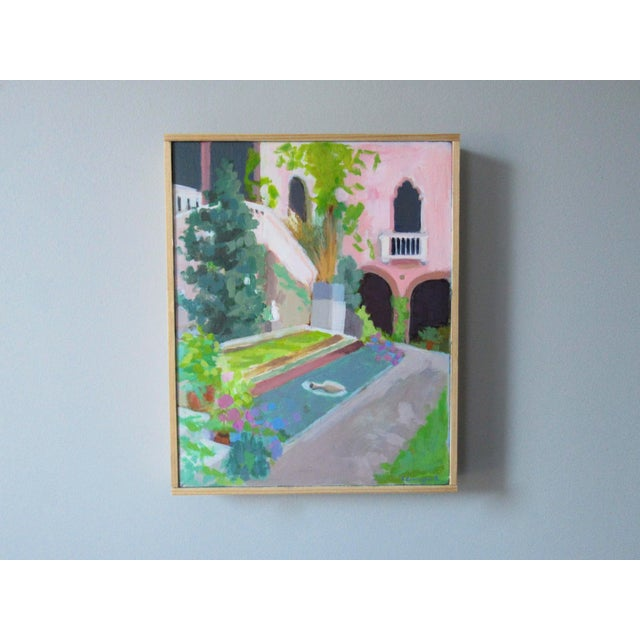 Anne Carrozza Remick Courtyard at the Gardner Museum by Anne Carrozza Remick For Sale - Image 4 of 6