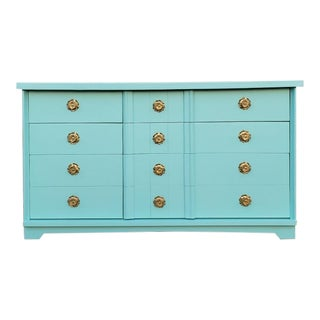 1950's Hollywood Regency Mint 9-Drawer Dresser For Sale