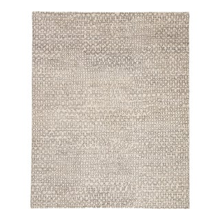 Pollack by Jaipur Living Reverb Hand-Knotted Trellis Ivory/ Black Area Rug - 8'x10' For Sale