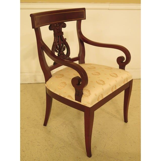 Mahogany 1990s Vintage Kindel Regency Mahogany Dining Room Chairs- Set of 8 For Sale - Image 7 of 13