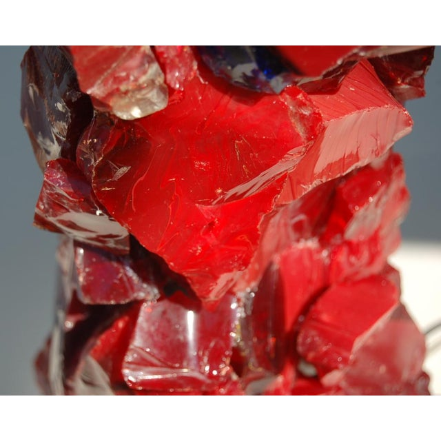 Rock Candy glass table lamps by Swank Lighting! These beautiful cluster table lamps in RED are from our rock candy...