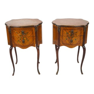19th Century Chippendale Nightstands - a Pair For Sale