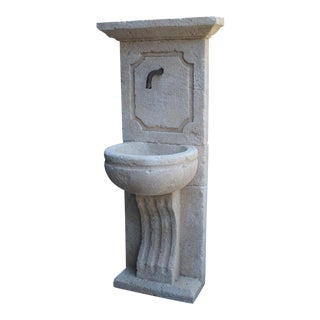 Small Carved French Wall Fountain From Provence For Sale