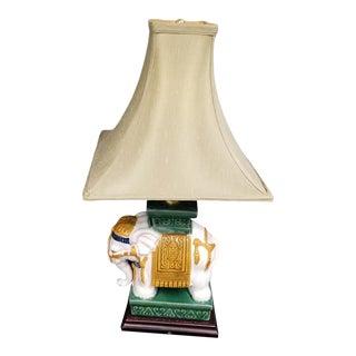 Indian Style Pagoda Shade Elephant Lamp
