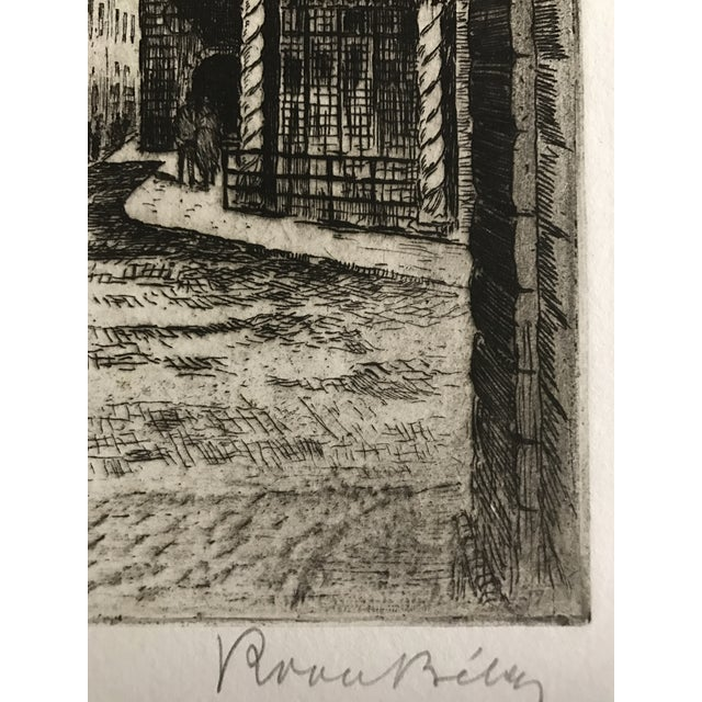 1925 Vintage Florence Italy Street Scene Etching - Image 4 of 5