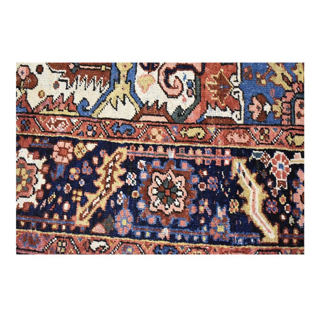 Antique Persian Heriz Rug - 9 x 11.10 - Image 6 of 9